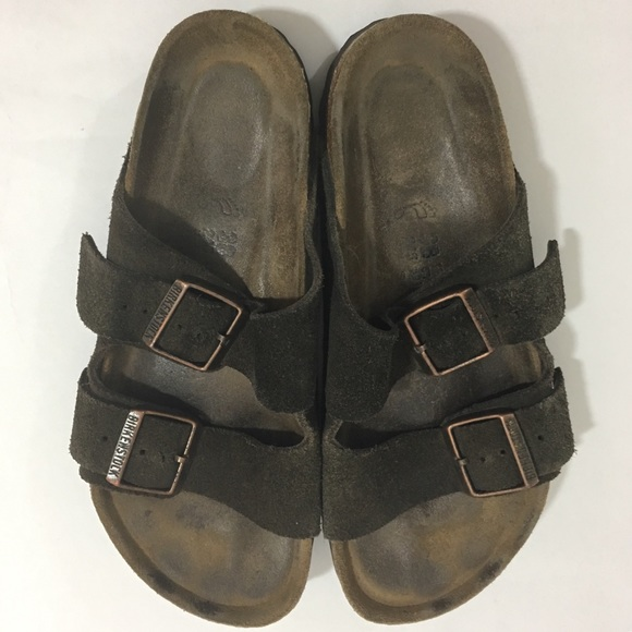 f475f9b218e3 Birkenstock Shoes - Birkenstock Arizona 2 Strap Brown Leather Sandals